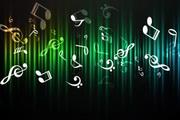 抽象音符符号光晕背景量素材
