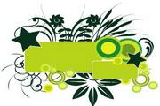 矢量绿色时尚花纹素材11