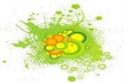 矢量绿色时尚花纹素材12
