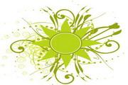 矢量绿色时尚花纹素材13