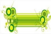 矢量绿色时尚花纹素材14