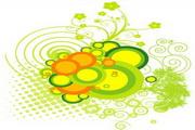 矢量绿色时尚花纹素材15