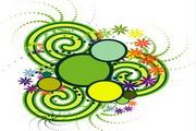矢量绿色时尚花纹素材16