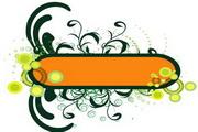 矢量绿色时尚花纹素材17