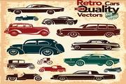 复古汽车矢量模板素材