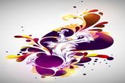 紫色花纹背景矢量图模板