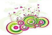 矢量绿色时尚花纹素材19