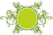 矢量绿色时尚花纹素材20