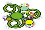 矢量绿色时尚花纹素材21