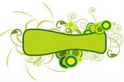 矢量绿色时尚花纹素材22