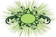 矢量绿色时尚花纹素材24