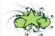 矢量绿色时尚花纹素材25