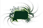 矢量绿色时尚花纹素材26