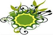 矢量绿色时尚花纹素材27