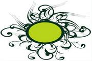 矢量绿色时尚花纹素材29