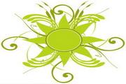 矢量绿色时尚花纹素材30