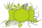 矢量绿色时尚花纹素材31