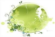 矢量绿色时尚花纹素材32