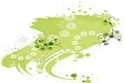矢量绿色时尚花纹素材33