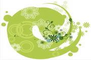矢量绿色时尚花纹素材35