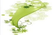 矢量绿色时尚花纹素材36