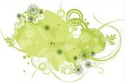 矢量绿色时尚花纹素材37