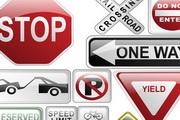 各式交通路标指示牌矢量素材