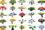 矢量创意树图标...