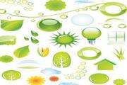 矢量绿色自然图标