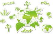 矢量绿色环保图标