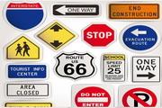 矢量公共指示路标