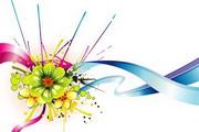 五彩缤纷的花朵素材