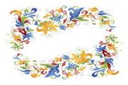 可爱花朵花纹矢量素材