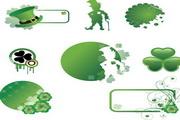 矢量绿色创意花纹 免费版