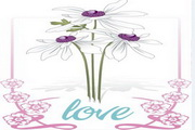 花朵花边love素材
