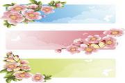 蝴蝶与桃花素材