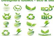 矢量绿色环保图标02