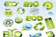 矢量绿色环保图标03
