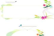 小鸟花纹公告板矢量图
