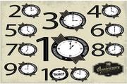 矢量创意钟表标签