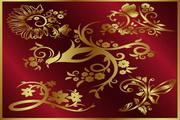 矢量金色欧式潮流素材31