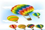 可爱热气球矢量图