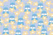 可爱兔子矢量图...