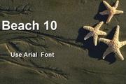 沙滩与海星PPT模板