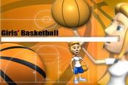 篮球女孩PPT模板