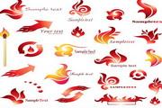 矢量火焰logo标志设计
