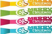 矢量圣诞节炫彩标签