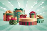 矢量圣诞树装饰背景