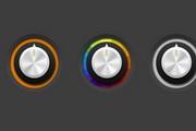 彩色网页按钮psd素材