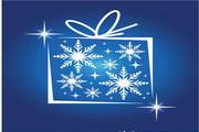 矢量蓝色精致圣诞背景